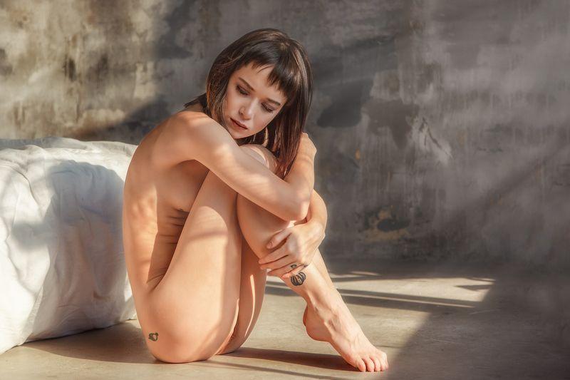 ню, постановочная фотография, женский портрет, художественная фотография, art, nude Утро Полиныphoto preview