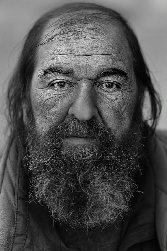 Portraits of homeless.photo preview