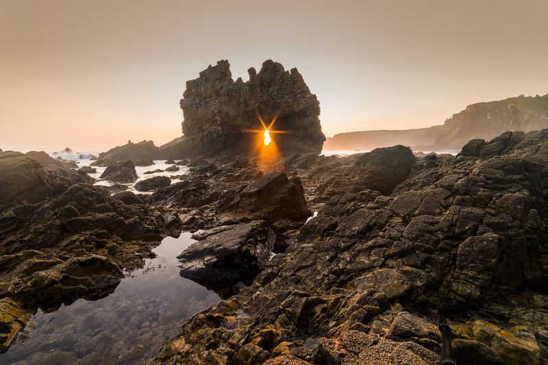испания, океан, рассвет Playa de Portizuelophoto preview