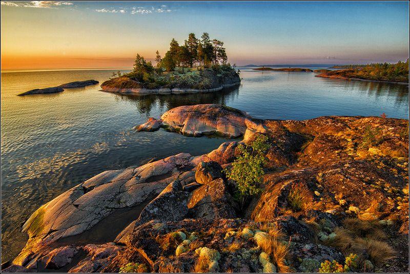карелия, ладожское озеро, утро, скалы. *  *  *photo preview