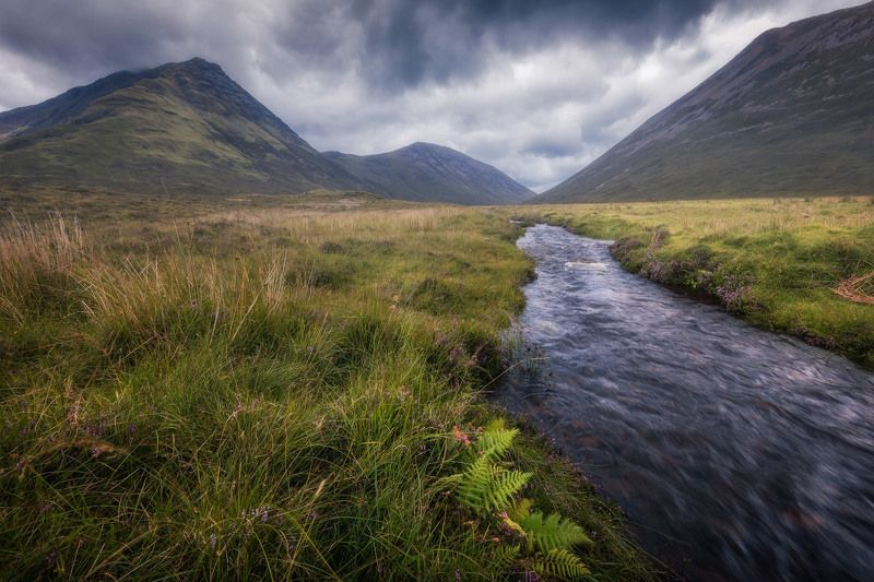 scotland creek clouds skye mood water sky ferns In the land of Elrond...photo preview