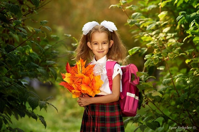 первоклашка, день знаний, 1 сентября, школа, портрет, девочка, ребенок Первоклашкаphoto preview
