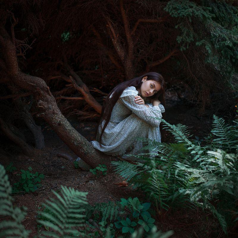 portrait, beauty, beautiful, model, girl, pretty, color, eyes, art, photo, nikon, conceptual, 50mm, dantar90, begmad, портрет, глаза, красивая, взгляд Dark forestsphoto preview