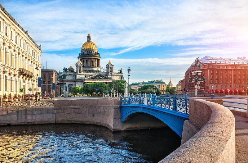 санкт-петербург, синий мост, исаакиевский собор Синий мостphoto preview