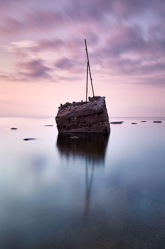 минимализм, финский залив, закат Отшельникphoto preview
