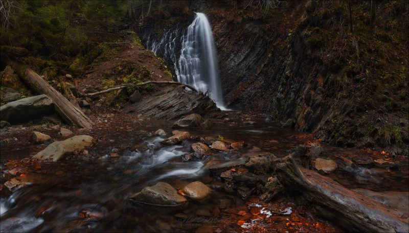 Карпаты, Закарпатье, водопад Гук, Женец, урочище, Женецкий водопад О Карпатах в ноябре ..photo preview
