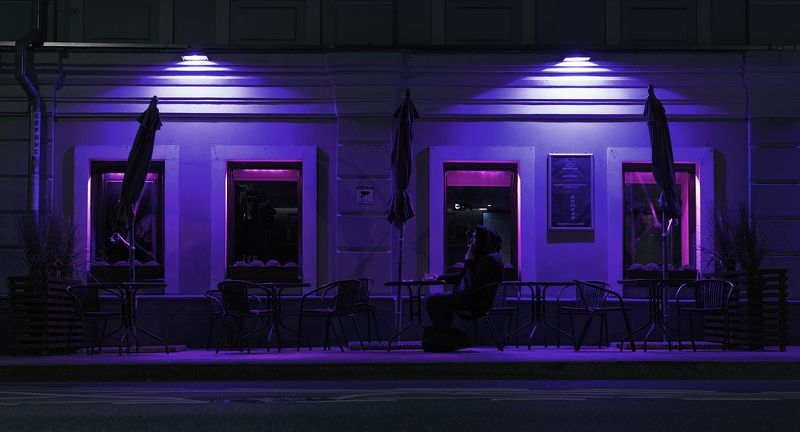 moscow, life, city, alone, loneliness, smoke, smoking, purple, night, coffee, depress, sorrow, Sergeyphoto preview