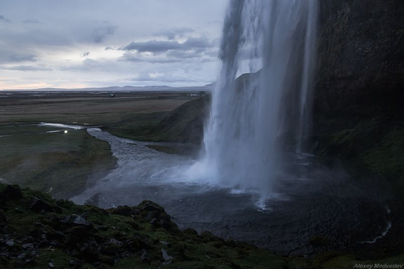 water, cold, iceland, seljalandsfoss Cold streamsphoto preview