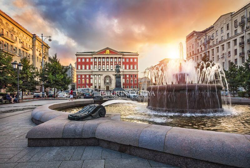 москва, мэрия, тверская площадь Прежний вид Тверской площадиphoto preview