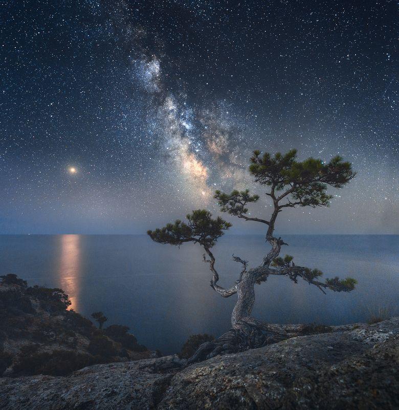 крым, новый свет, пик космос, астрофото, ночное фото, пейзаж, ночной пейзаж ***photo preview