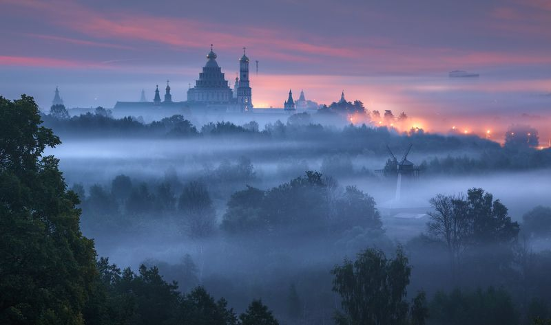 истра, новый иерусалим, монастырь, туман Пробуждениеphoto preview