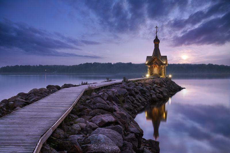 финский залив, часовня, закат Часовня Николая Чудотворцаphoto preview