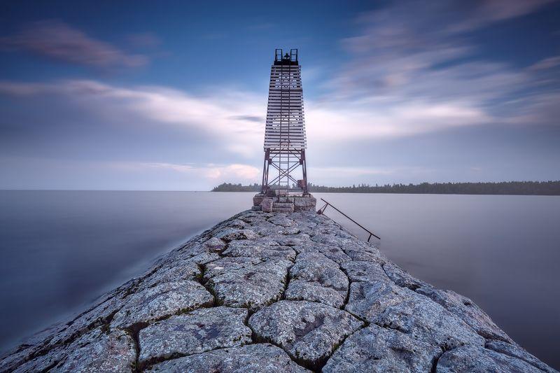 дамба, ладожское озеро, минимализм Ориентирphoto preview