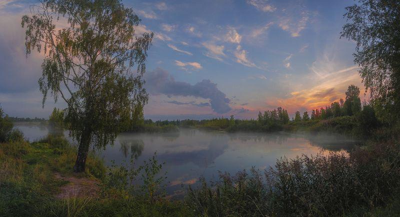 пейзаж,озеро,вечер После закатаphoto preview