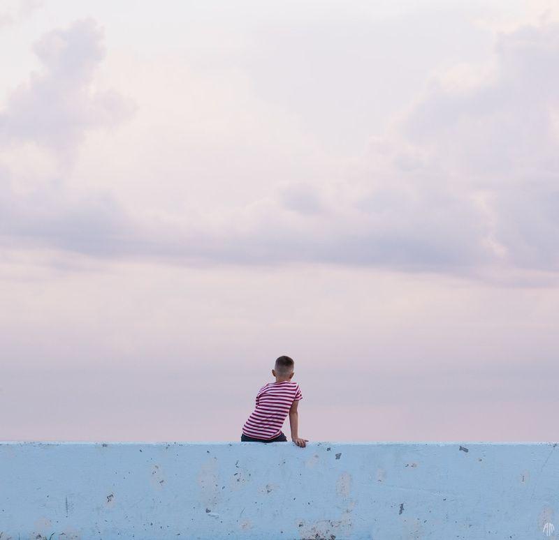 минимализм, белое море, У моряphoto preview
