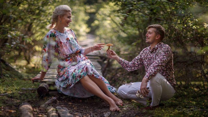 портрет, лес, русский стиль, портрет, грибы По грибыphoto preview