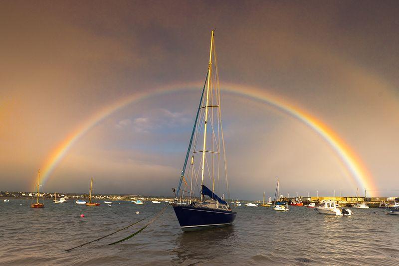 rainbow ,sun, light,ireland,skerries photo preview