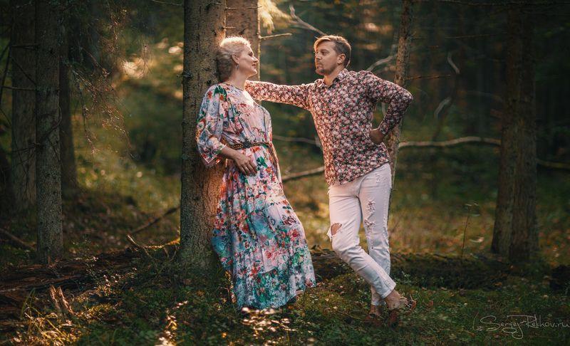 лес, любовь, девушка, луч солнца, лето Деревенская любовьphoto preview