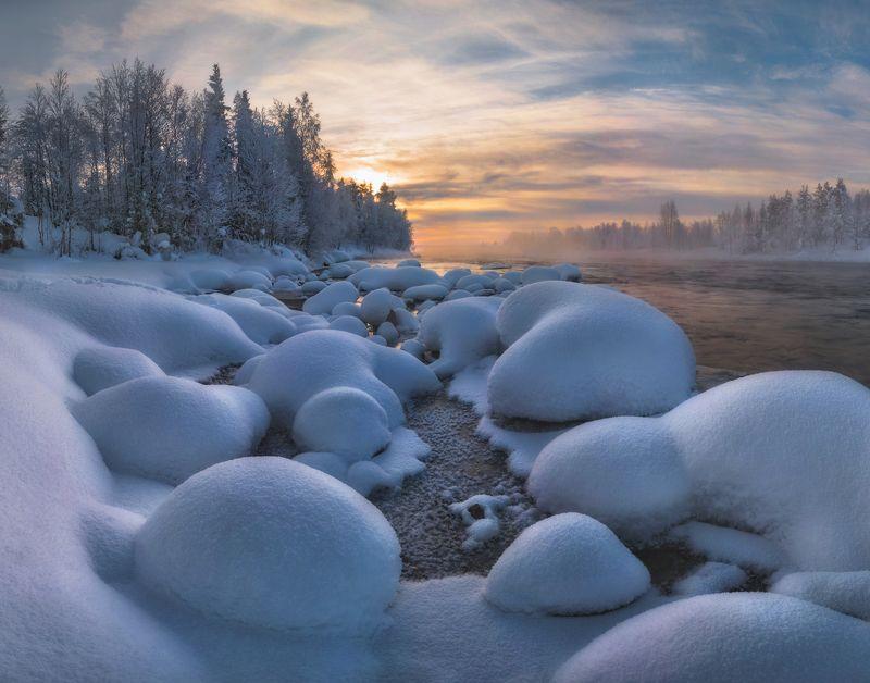 кольский Зимний пейзаж севера.photo preview