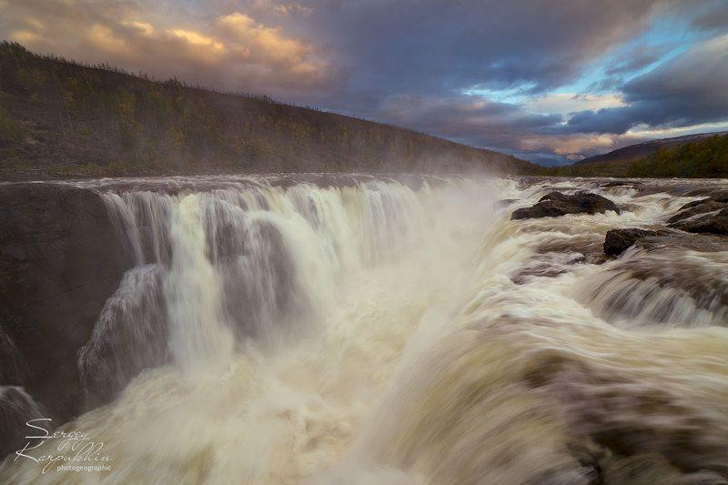 путораны, плато путорана Большой Курейский водопадphoto preview