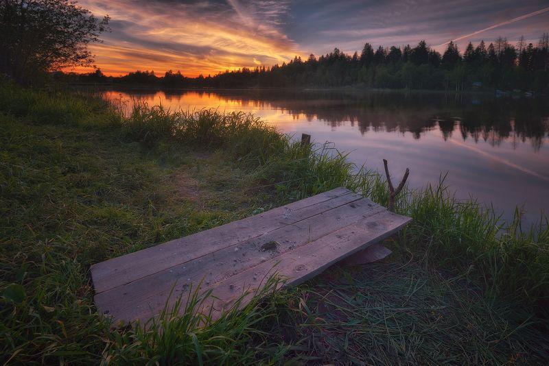 лес, природа, пейзаж, лето, река, вода, ручей, подмосковье Сезон рыбалкиphoto preview