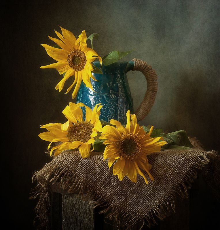 натюрморт,подсолнухи,осень ...photo preview