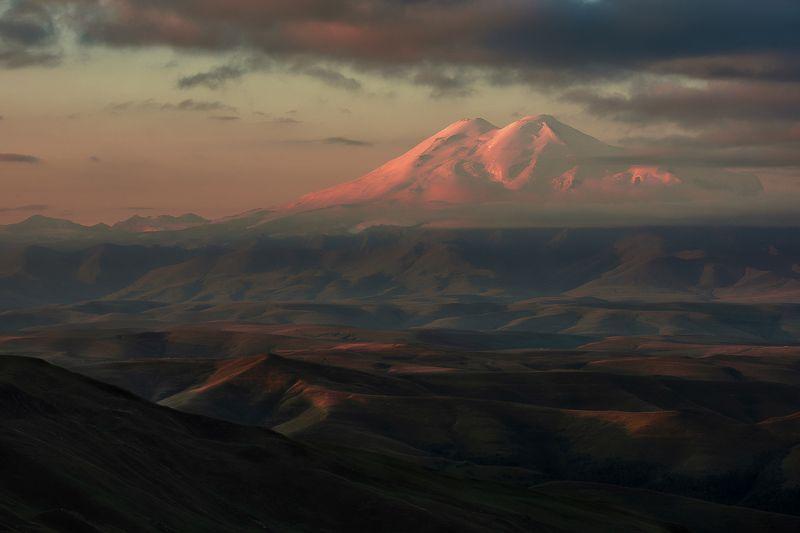 кавказ, бермамыт, эльбрус, утро, восход Начало дняphoto preview