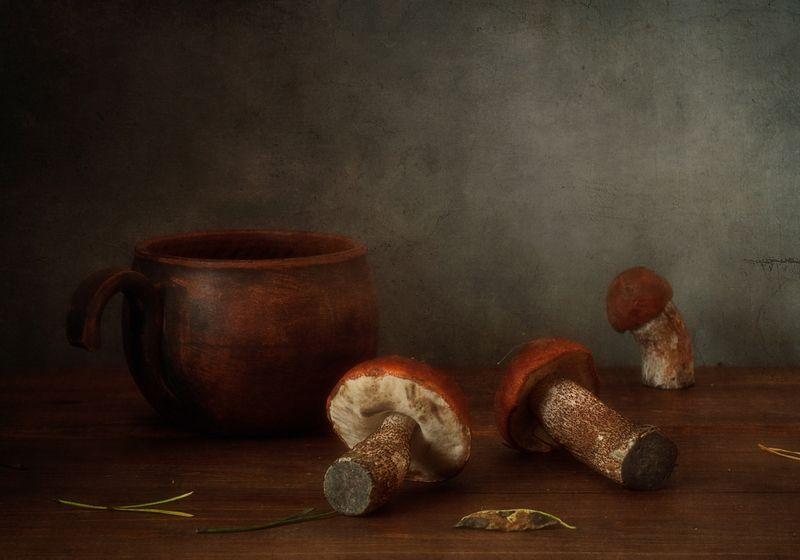 натюрморт,грибы,осень,подосиновик с подосиновиками...photo preview