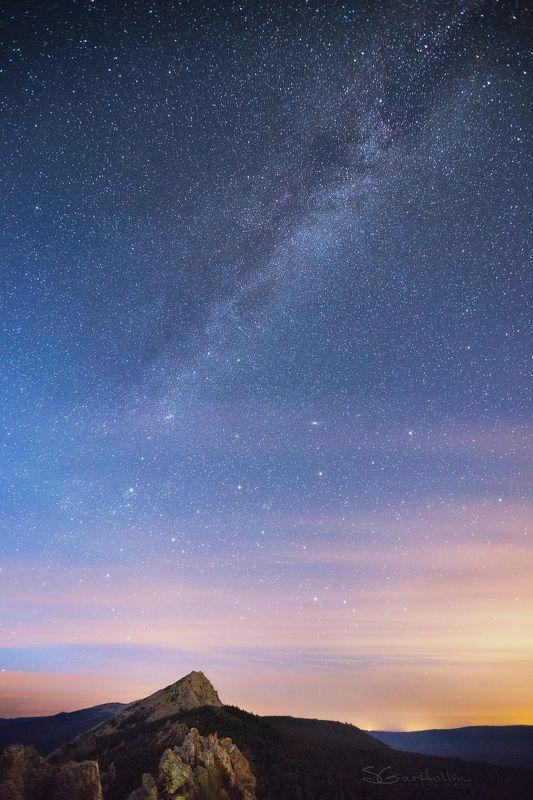 Таганай, Откликной, Урал, Средний Урал, звезды, Млечный путь Млечный путь над Таганаемphoto preview