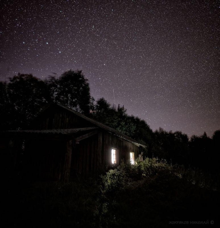 ночь над рыбацкой избой...photo preview