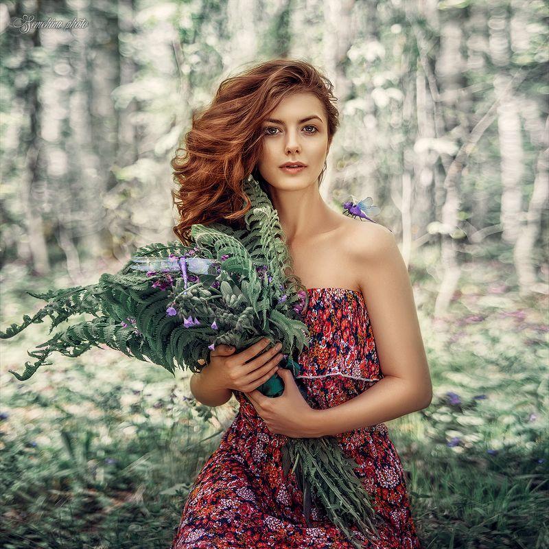 девушка, портрет, природа, лето, стрекоза, girl, portreit, summer, dragonfly, nature photo preview