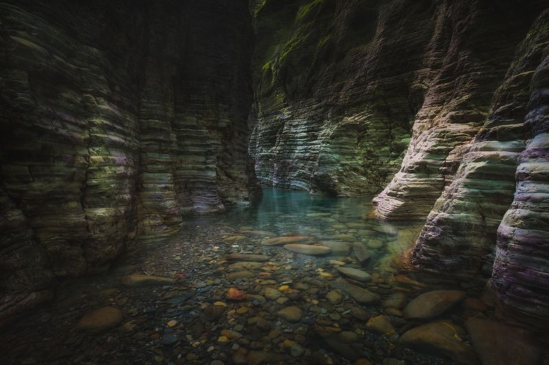 canyon    italy   landscape  water Giaredo Canion Tuscanyphoto preview