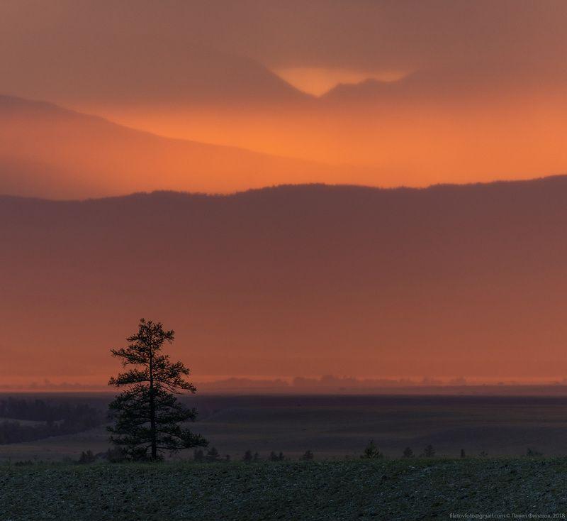 алтай, курай, сибирь, закат Курайский огоньphoto preview