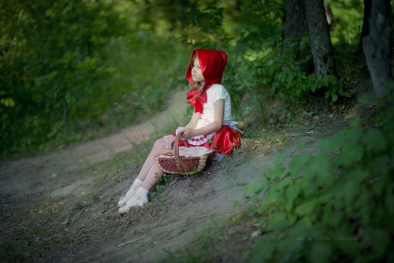 постановка, девочка,  пленер фотограф Вера Шамраева Про Красную шапочкуphoto preview