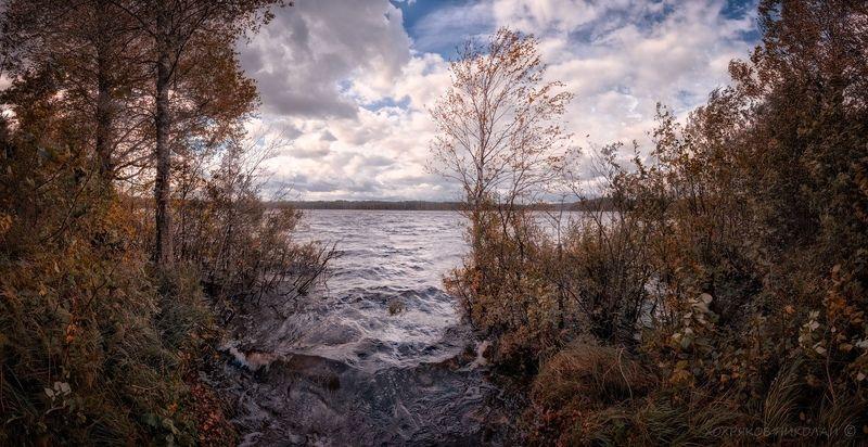 ветер, озеро, сентябрь...photo preview