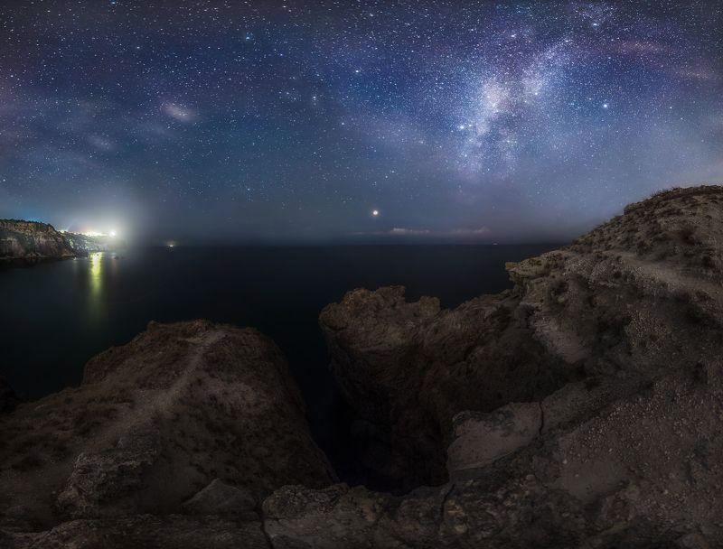 крым, фиолент, ночь, млечный путь, пейзаж ***photo preview