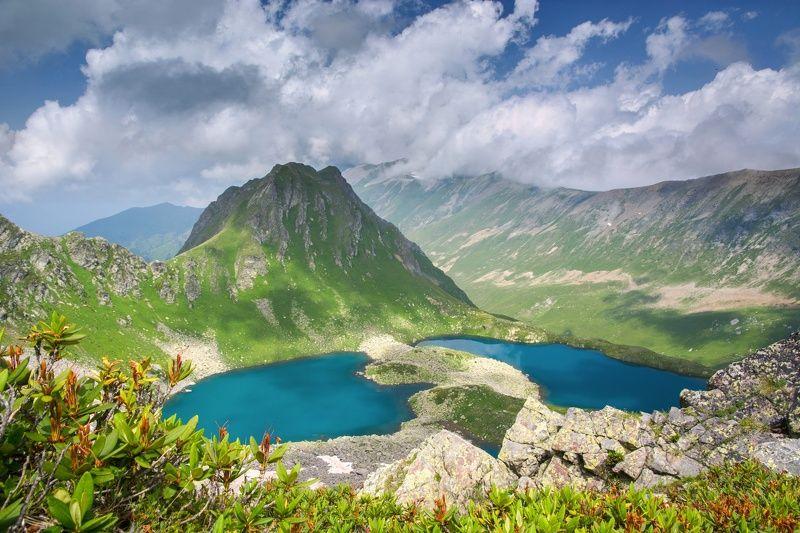 горы,озеро голубые глаза Загеданаphoto preview