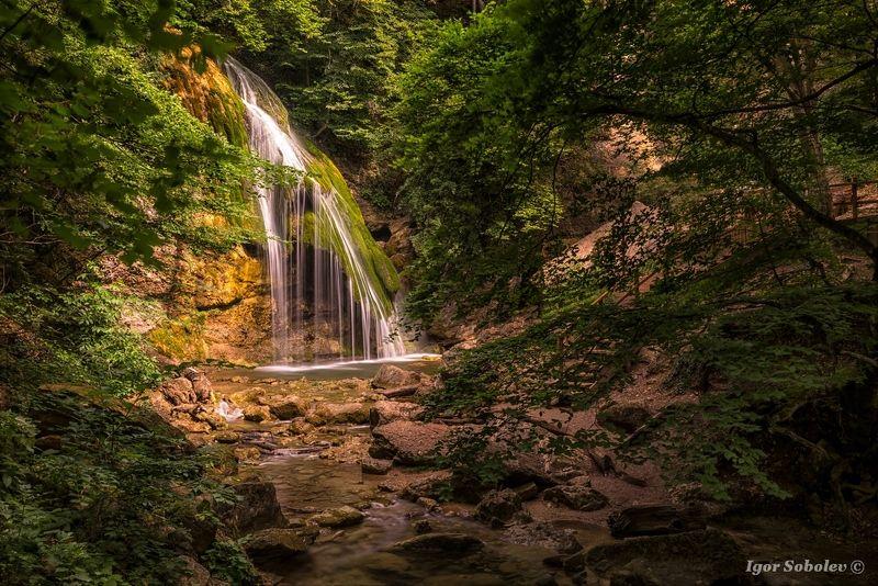 Джур-Джур, водопад, Крым, Jur-Jur, waterfall, Crimea Водопад Джур-Джурphoto preview