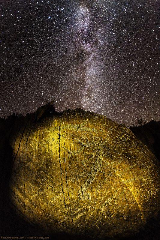 звезды, алтай, чуйская степь, млечный путь, петроглифы, сибирь Бегущие к звездамphoto preview