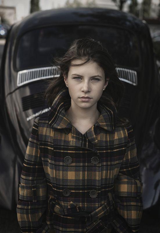 портрет,жанровый портрет , женщина, ретро , автомобиль , красивая photo preview