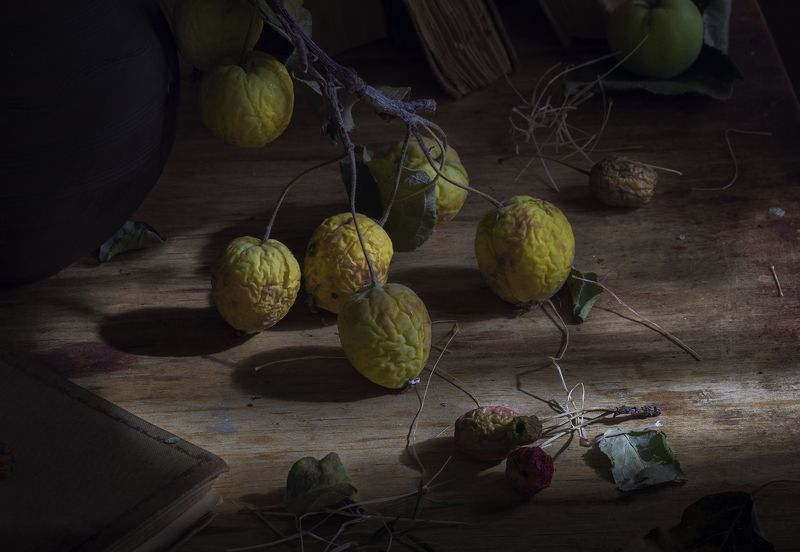 натюрморт,яблоки Осеньphoto preview