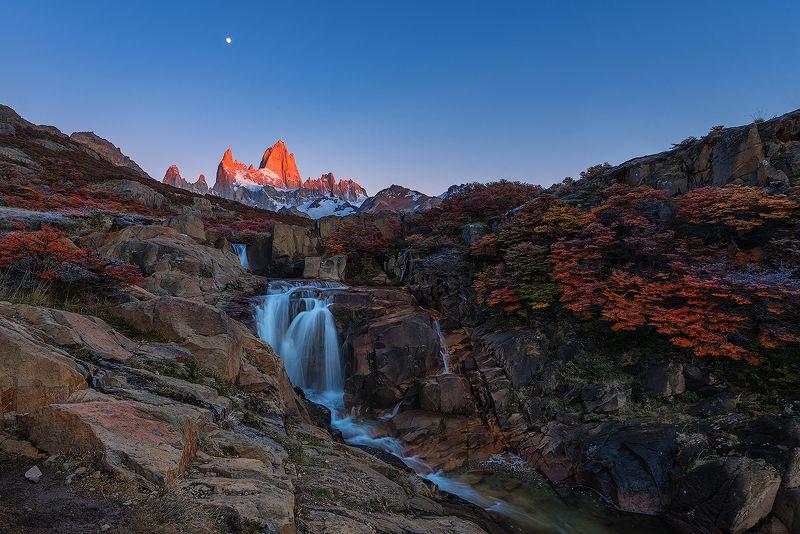 патагония, аргентина, рассвет, водопад ***photo preview