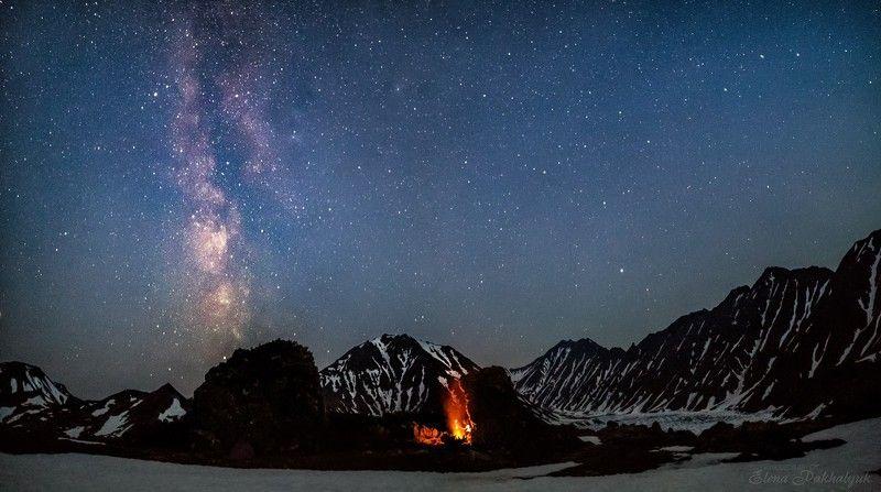 вулкан,камчатка,кольдера,фототур,ночь,звезды,млечный путь,кратер,огонь,путешествие,экспедиция,треккинг,пейзаж,россия,бакенинг В сердце вулканаphoto preview