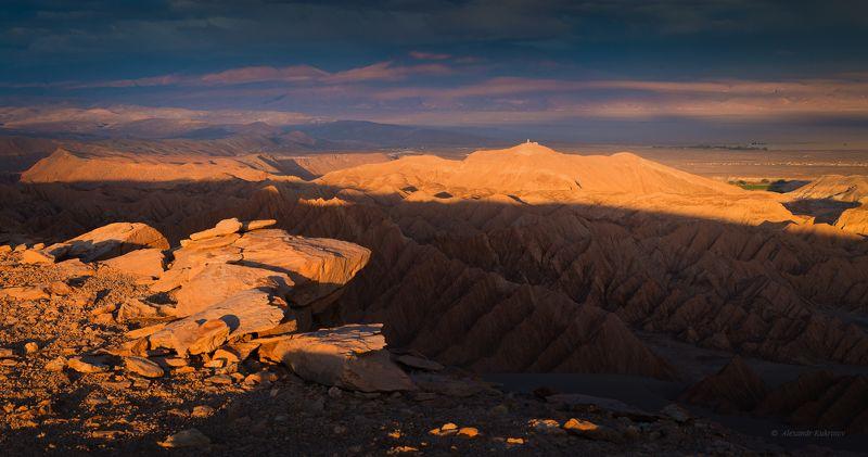 чили, пейзаж, вечер, закат Чили. Долина Смерти.photo preview
