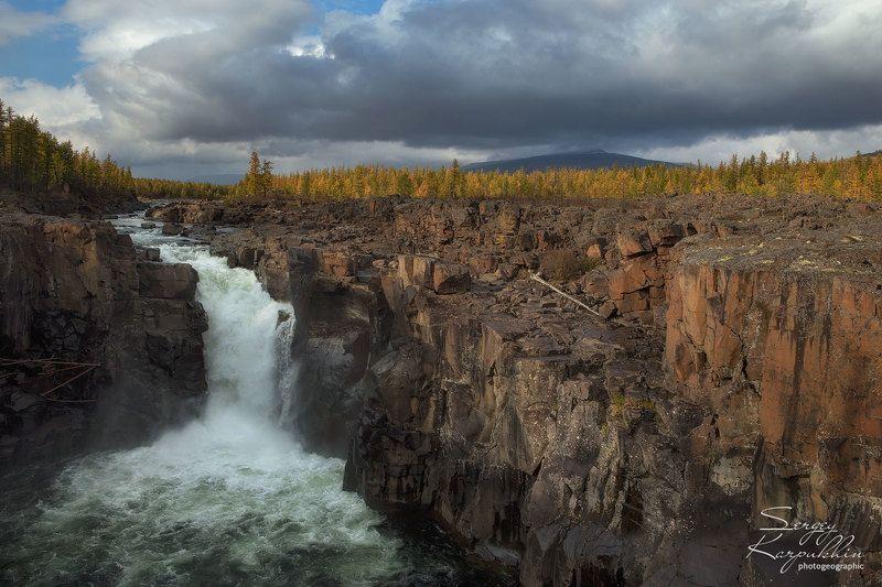 путораны, плато путорана Водопад на реке Нералphoto preview