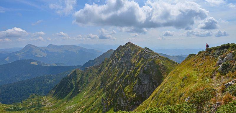 карпаты, горы, мармаросский массив, гуцульские альпы, вершина поп иван, мармарошский, небо, облака Мы в такие шагали дали..!photo preview