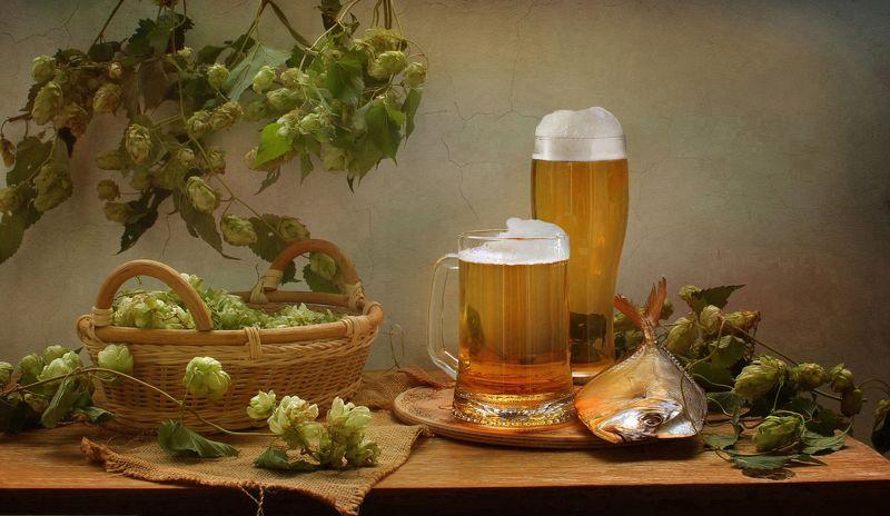 натюрморт, осень, пиво, рыба, вомер, хмель, корзина Губит людей не пиво... :)photo preview