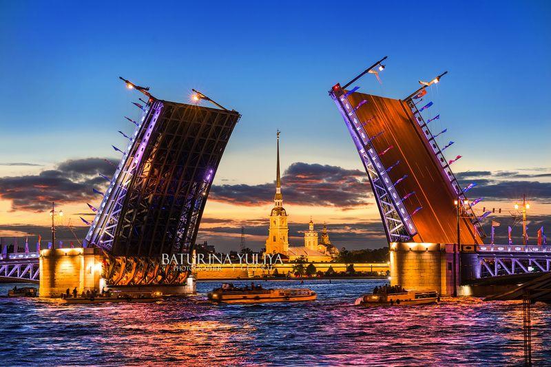санкт-петербург, дворцовый мост, белая ночь, петропавловская крепость Дворцовый мостphoto preview