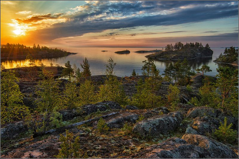 карелия, ладожское озеро, утро Утро на Ладожском озереphoto preview