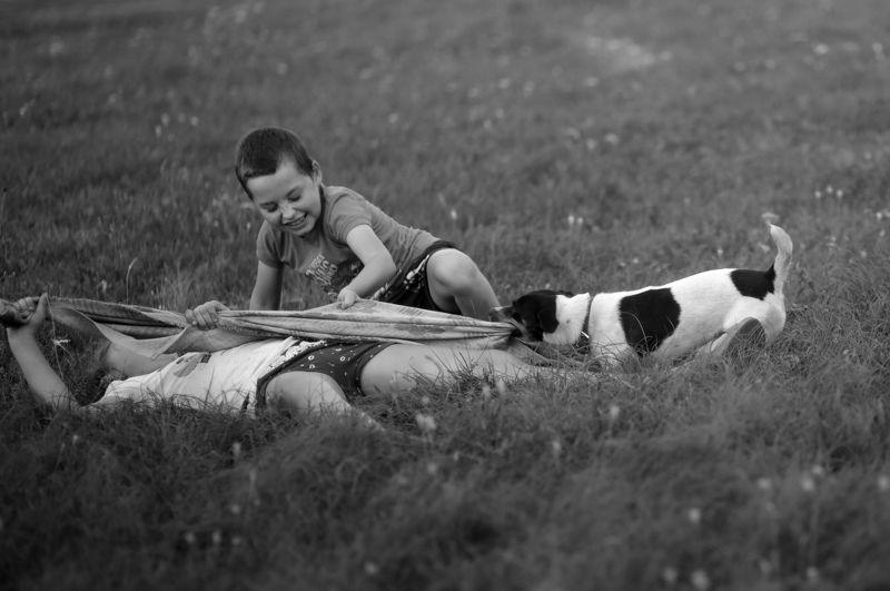 жанровая серия, черно-белое, детская тема Я не сдамся без боюphoto preview